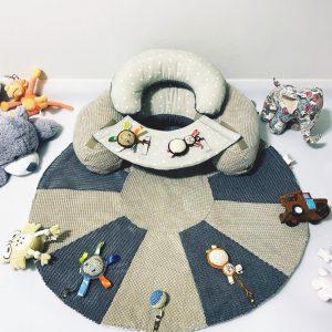 TERMO Sėdėjimo/Atraminė pagalvė su lavinamuoju žaidimų kilimėliu ,,RAMUTIS,,