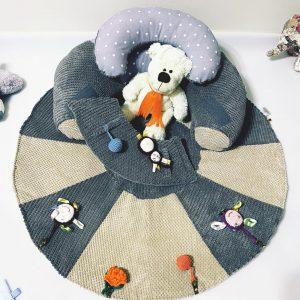 TERMO Sėdėjimo/Atraminė pagalvė su lavinamuoju žaidimų kilimėliu ,,ŽVAIGŽDUTĖ,,
